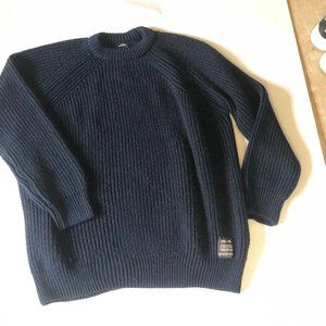 URBAN OUTFITTERS NAVY BLUE KNIT SWEATER